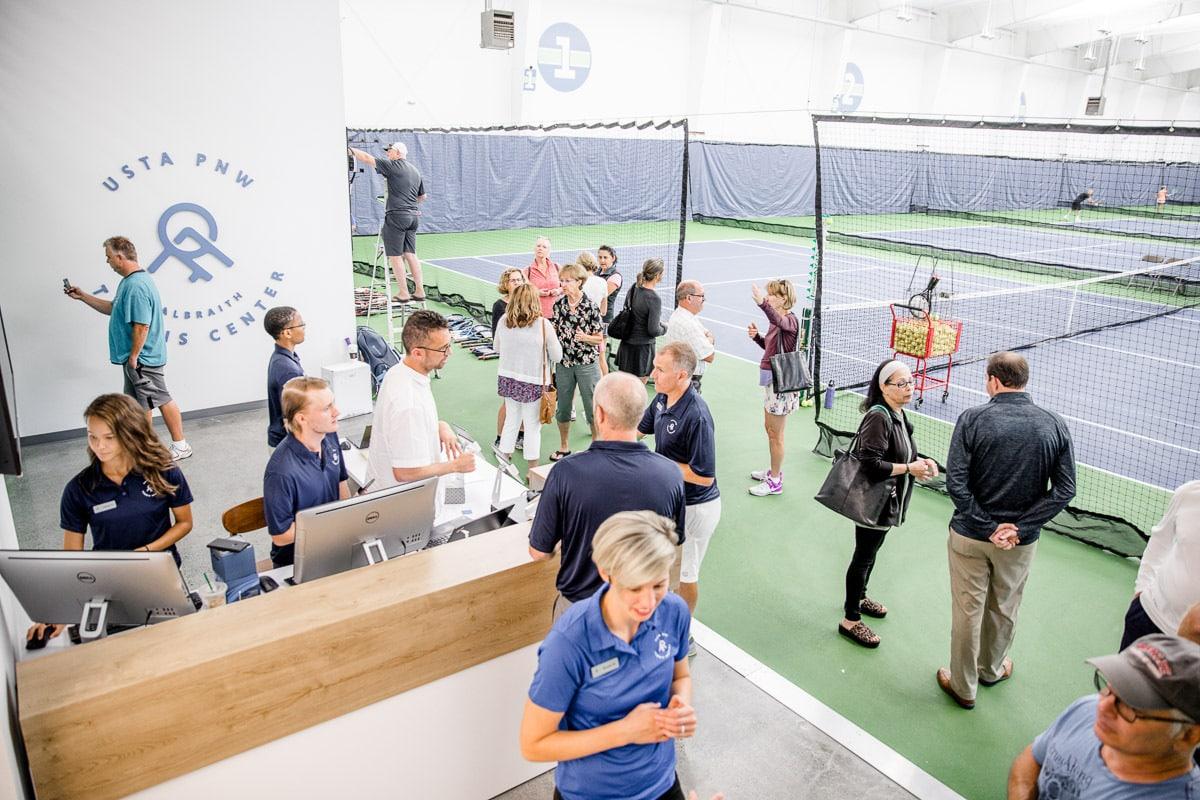 Tacoma indoor tennis court center