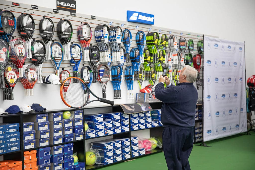 Dicksons Tennis Services wall at GTC